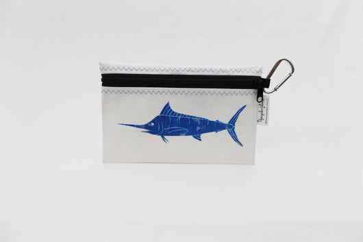 Upcycle Hawaii White Marlin Waterproof Pouch
