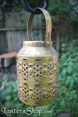 Golden flowers basket lantern