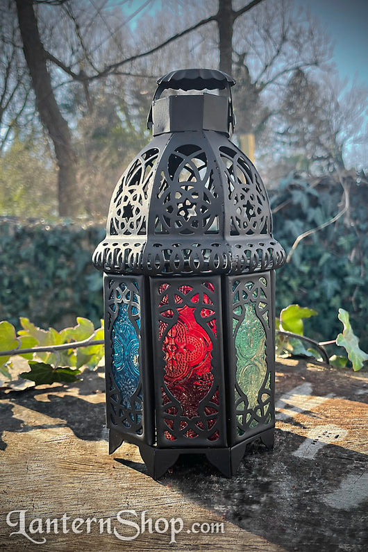 Rainbow Lattice Lantern w/ Hook