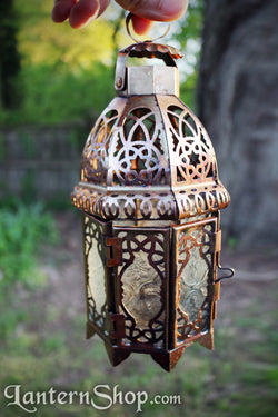 Copper lattice lantern