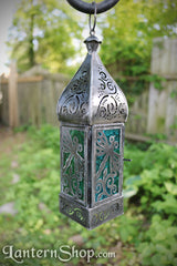 Blue green dragonfly lantern