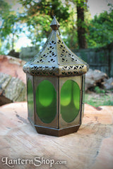 Antique brass pavillion lantern