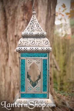 Windowed square lantern