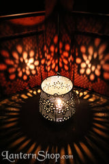 Brass flowers basket lantern