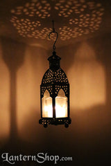 Domed clear silver lantern