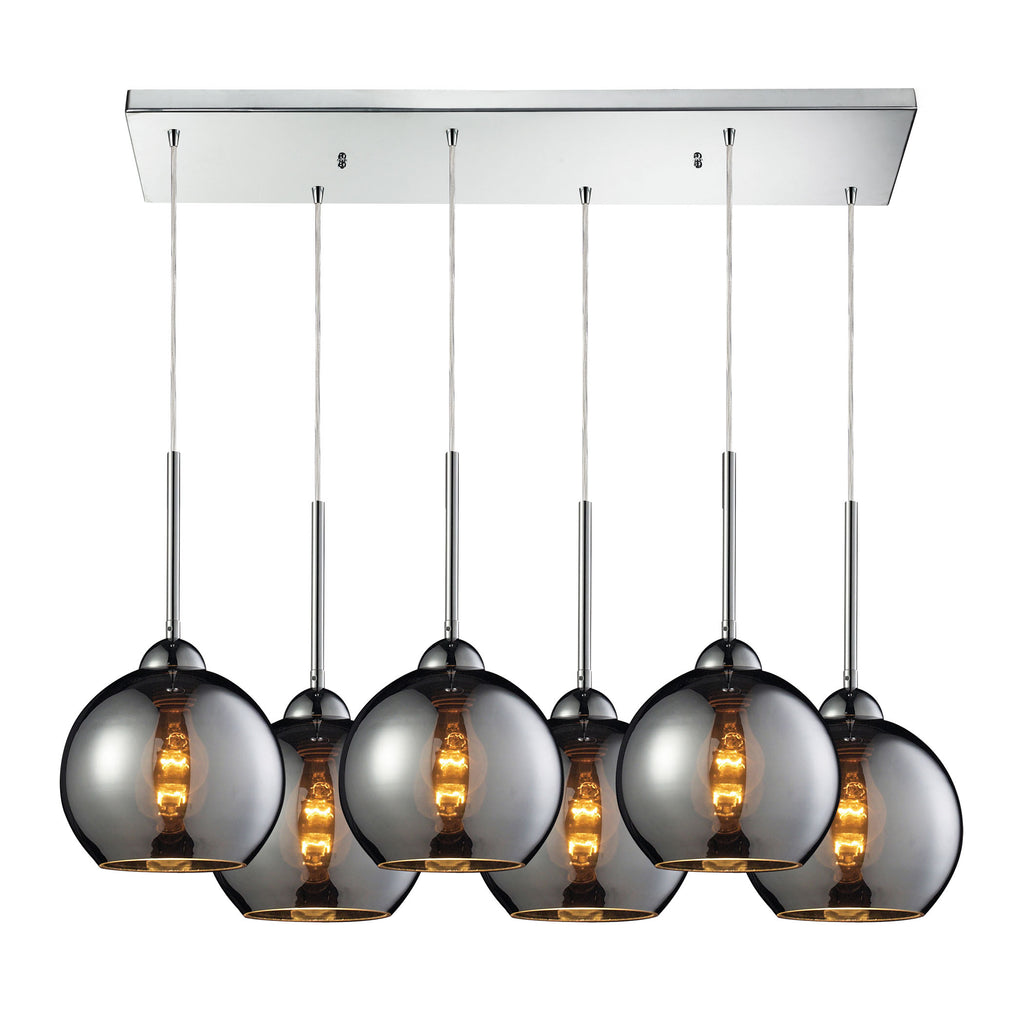 Cassandra 6 Light Pendant in Polished Chrome