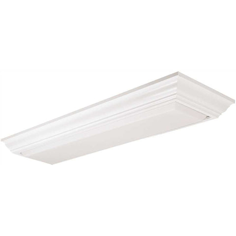 LITHONIA LIGHTING® CAMBRIDGE LINEAR FLUSH MOUNT FLUORESCENT FIXTURE, WHITE