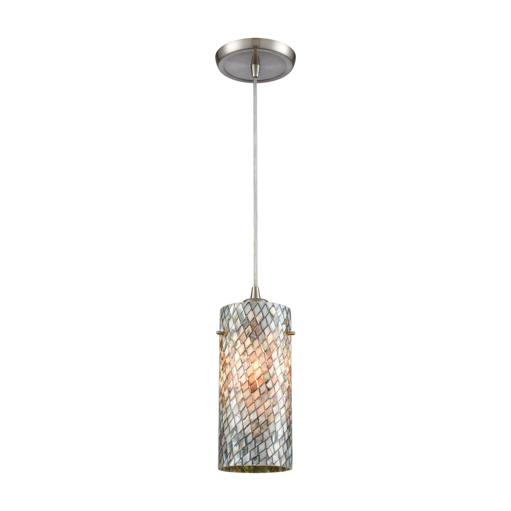 Capri 1 Pendant Satin Nickel