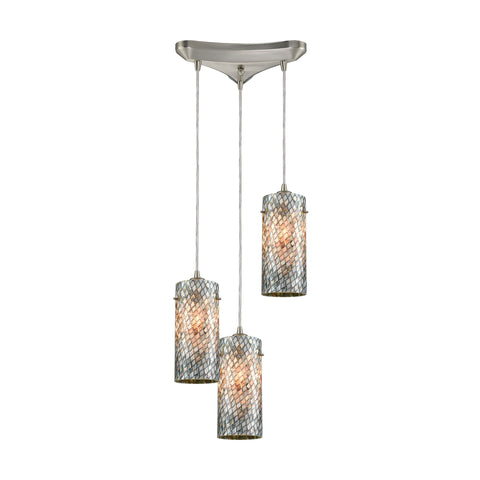 Capri 3 Pendant Satin Nickel