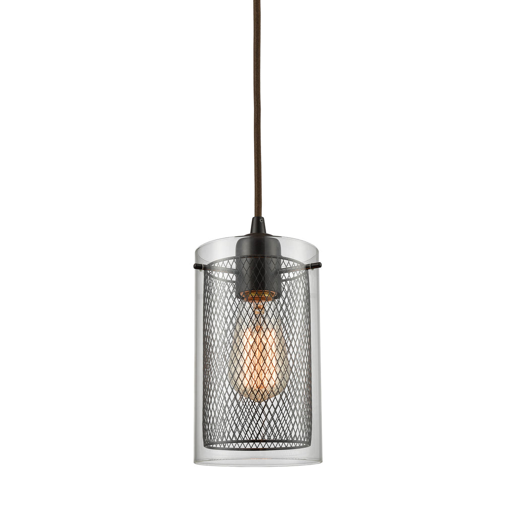 Brant 1 Light Pendant in Oil Rubbed Bronze