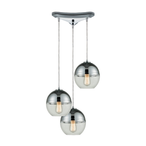Revelo 3 Pendant Polished Chrome