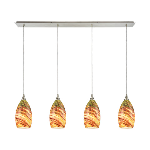 Collanino 4 Pendant Satin Nickel