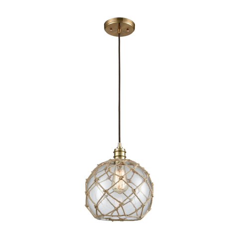 Dragnet 1 Pendant Satin Brass