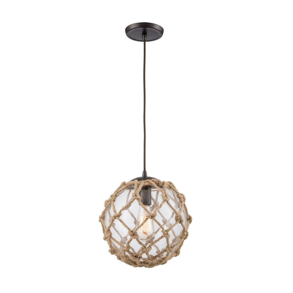 Coastal Inlet 1 Pendant Oil Rubbed Bronze