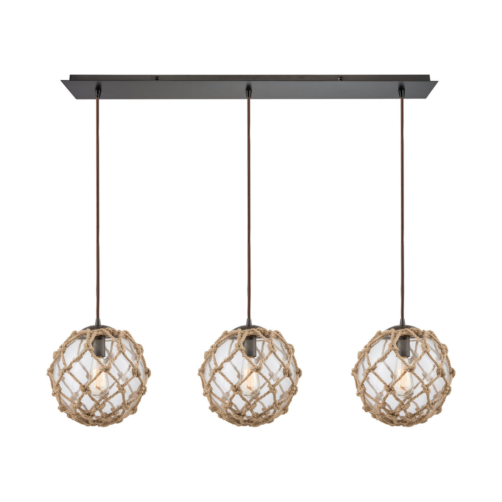 Coastal Inlet 3 Pendant Oil Rubbed Bronze