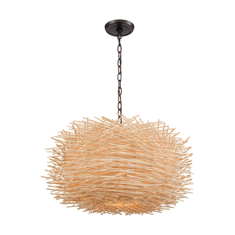 Bamboo Nest 3 Pendant Oil Rubbed Bronze