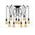 Cregan 10-light cluster chandelier