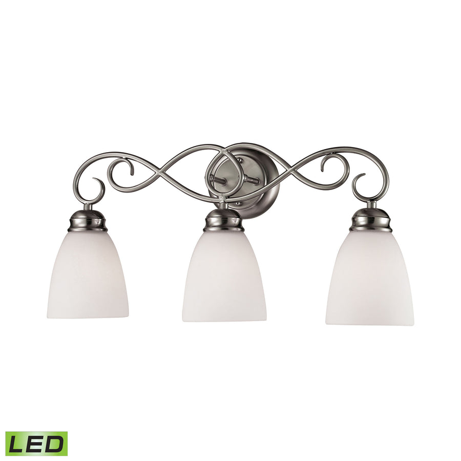Chatham 3 Light LED Vanity In Brushed Nickel