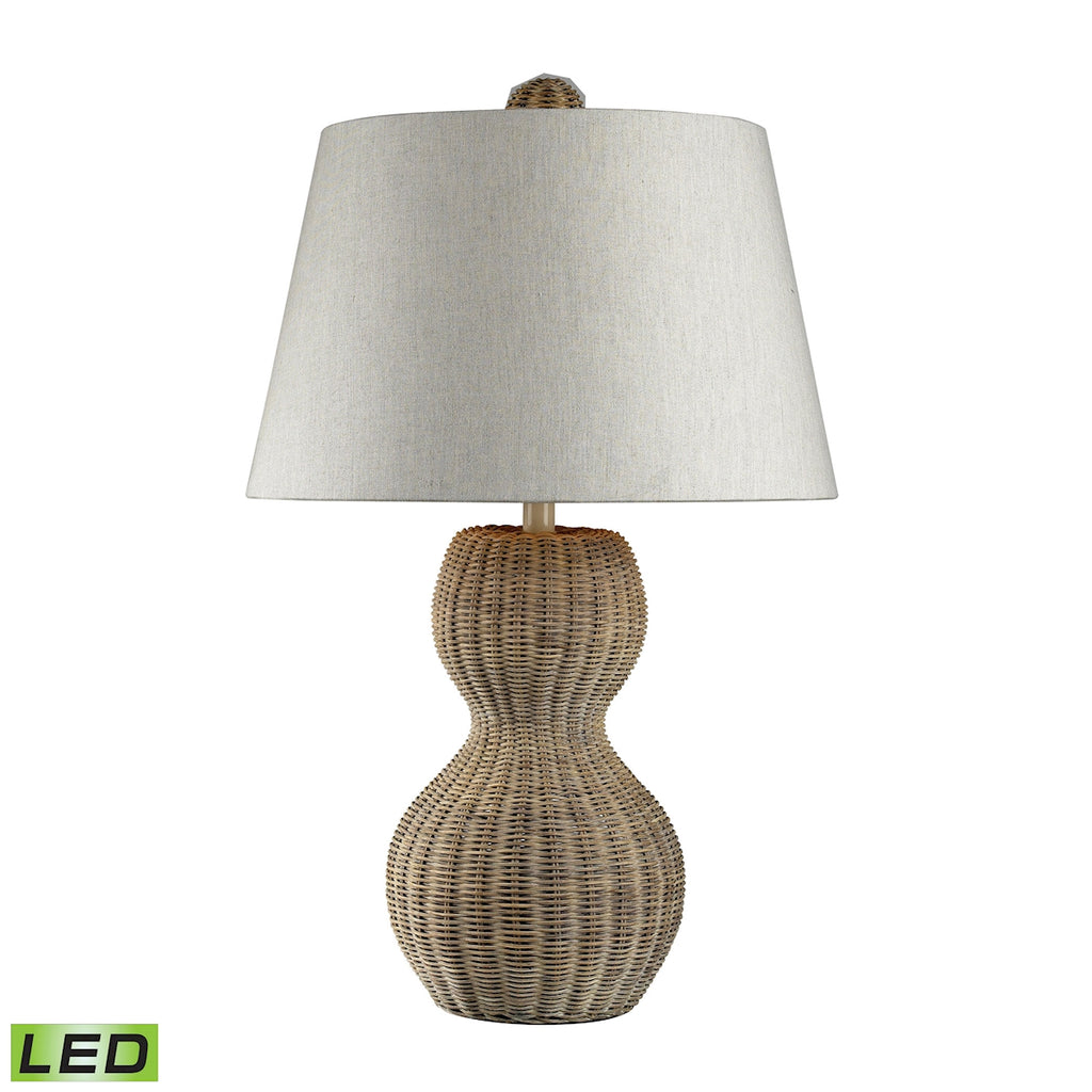 Sycamore Hill Rattan LED Table Lamp in Light Natural Finish
