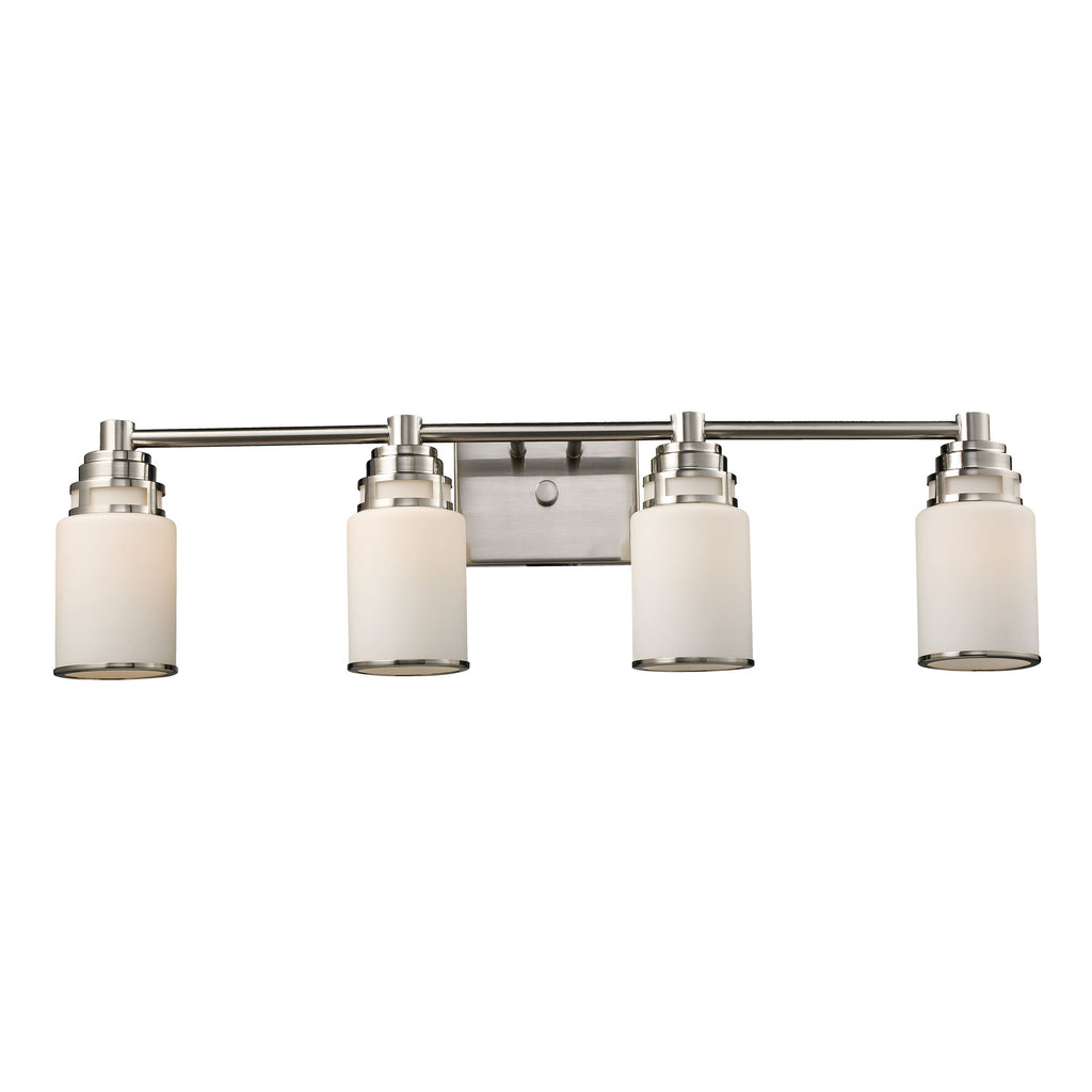 Bryant 4-light WB in satin nickel