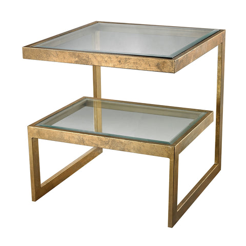 Gold Leaf Key Side Table