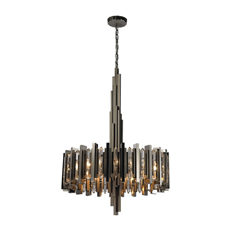 Industrialist 8 Light Chandelier In Polished Nickel