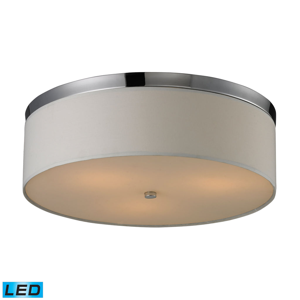 Flushmounts 3 Light Flushmount in Polished Chrome - LED, 800 Lumens (2400 Lumens Total) with Full Sc