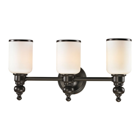 Bristol Collection 3 light bath in Oil Rubbed Bronze