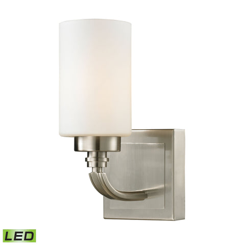 Dawson Collection 1 light bath in Brushed Nickel - LED Offering Up To 800 Lumens (60 Watt Equivalent
