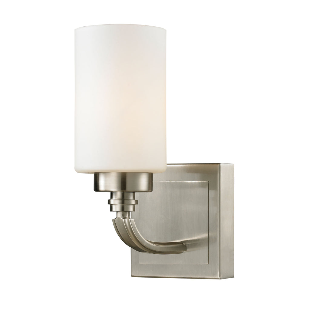 Dawson Collection 1 light bath in Brushed Nickel