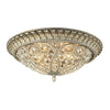 Andalusia Collection 4 light flush mount in Aged Silver