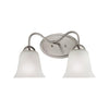 Conway 2 Light Vanity In Brushed Nickel