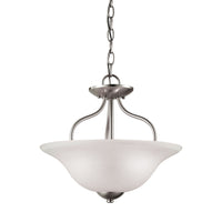 Conway 2 Light Semi Flush In Brushed Nickel