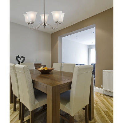 Conway 5 Light Chandelier In Brushed Nickel