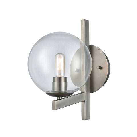 Globes of Light 1 Wall Sconce Brushed Black Nickel