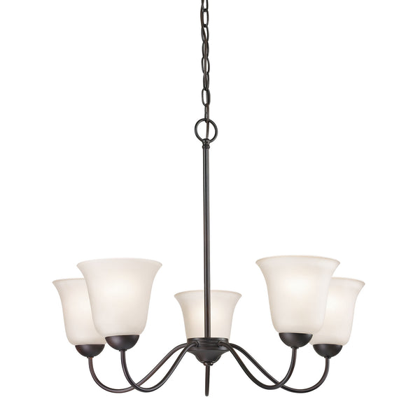 Conway 5 Light Chandelier In Oil Rubbed Bronze