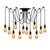 Cregan 12-light cluster chandelier