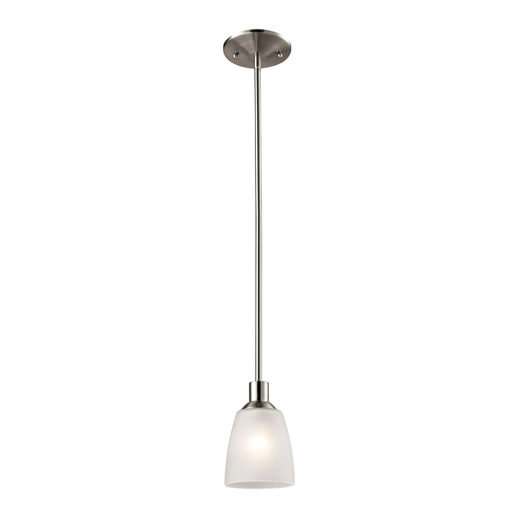 Jackson 1 Light Mini Pendant In Brushed Nickel