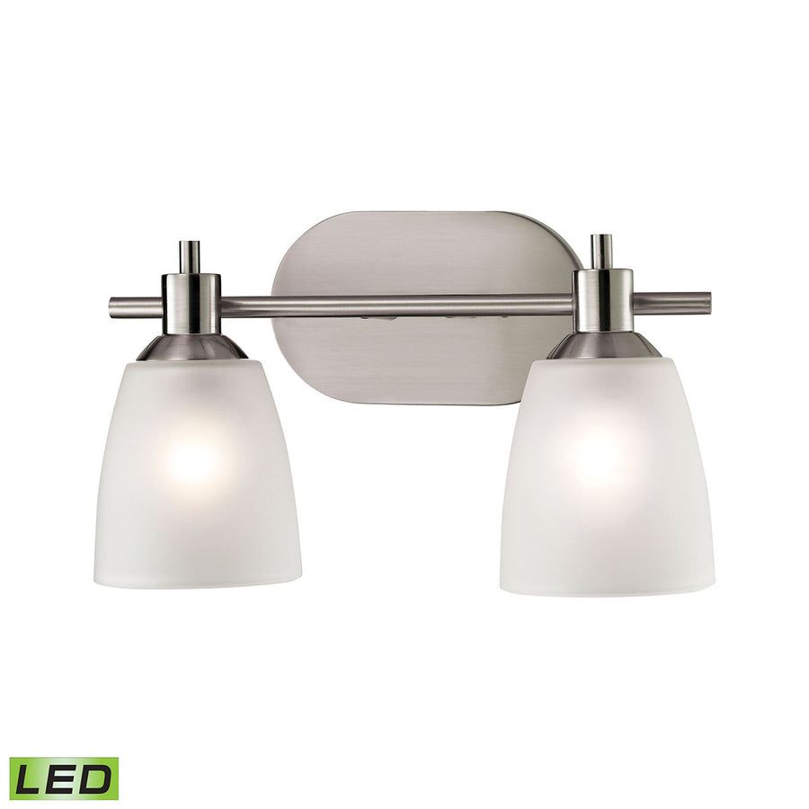 Jackson 2 Light LED Vanity In Brushed Nickel