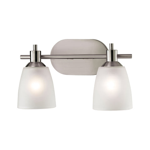 Jackson 2 Light Vanity In Brushed Nickel