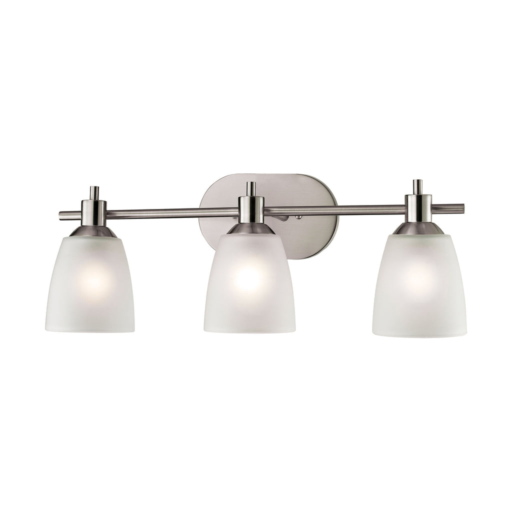 Jackson 3 Light Vanity In Brushed Nickel