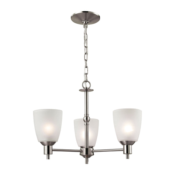 Jackson 3 Light Chandelier In Brushed Nickel