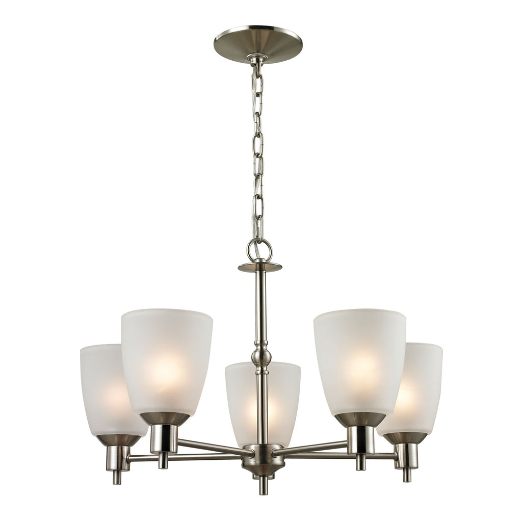 Jackson 5 Light Chandelier In Brushed Nickel
