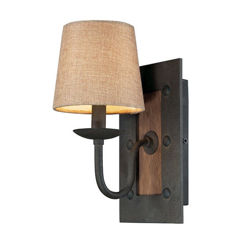 Early American 1-Light Wall Sconce in Vintage Rust