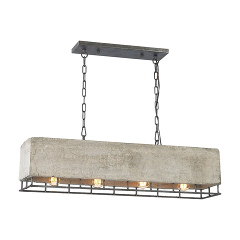 Brocca 4 Light Chandelier in Silverdust Iron