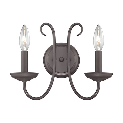 Williamsport 2 Light Wall Sconce In Oil Rubbed Bronze
