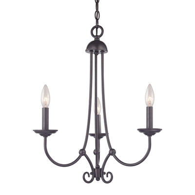 Williamsport 3 Light Chandelier  In Oil Rubbed Bronze
