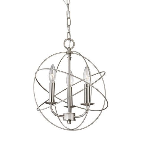 Williamsport 3 Light Chandelier In Brushed Nickel