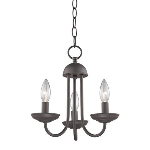 Williamsport 3 Light Mini Chandelier In Oil Rubbed Bronze