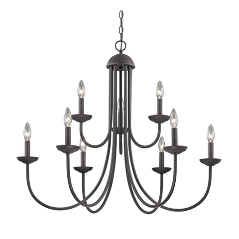 Williamsport 9 Light Chandelier In Oil Rubbed Bronze